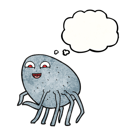 cartoon tick: freehand drawn thought bubble textured cartoon tick
