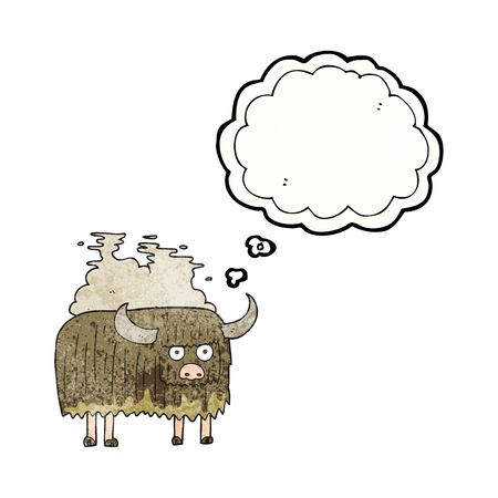 smelly: freehand drawn thought bubble textured cartoon smelly cow