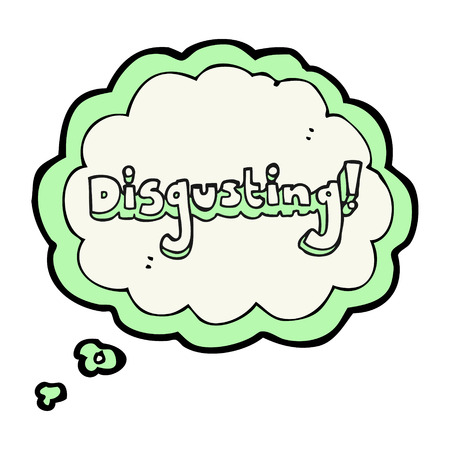 thought bubble: disgusting freehand drawn thought bubble cartoon Illustration