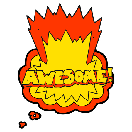 shout: awesome freehand drawn thought bubble cartoon shout Illustration