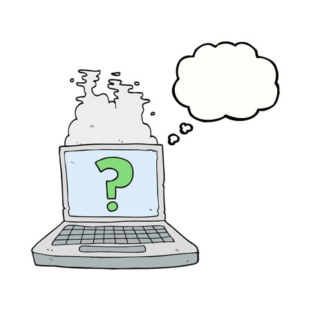 internet search: freehand drawn thought bubble cartoon internet search