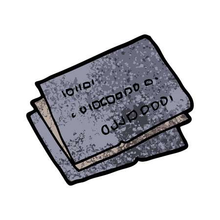 Old credit cards cartoon