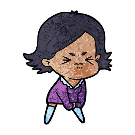 cartoon angry woman Stock Vector - 94472311