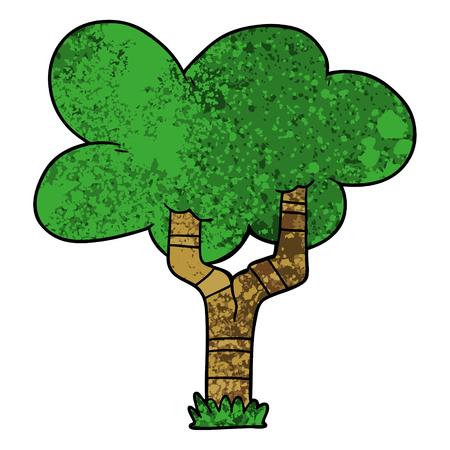 Cartoon tree Иллюстрация