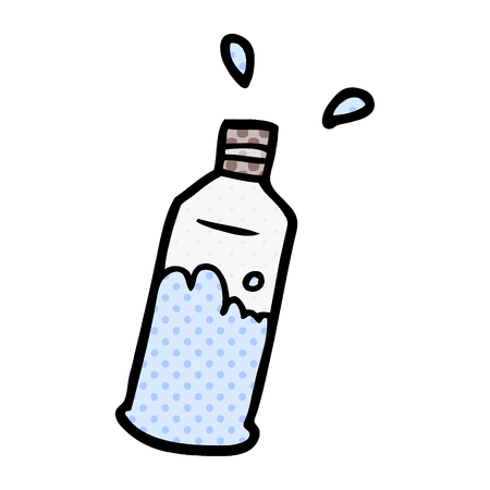 cartoon water bottle Illustration