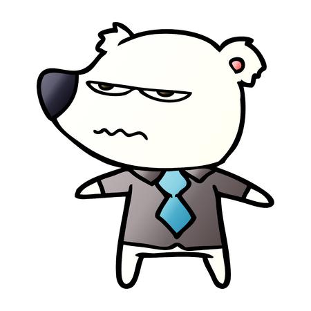 Urso polar em camisa e gravata dos desenhos animados Foto de archivo - 94472815