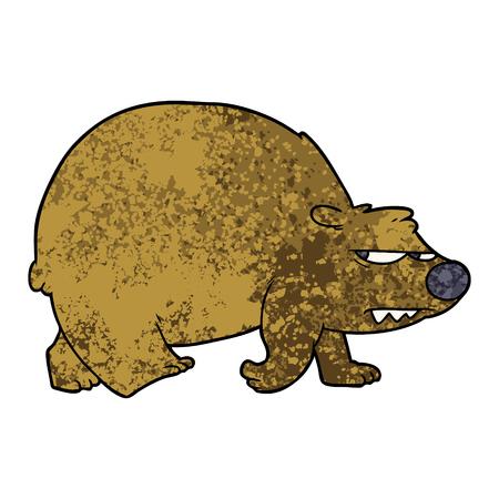cartoon angry bear