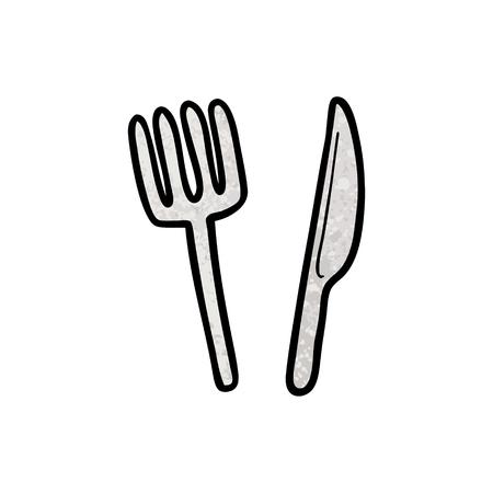 漫画のナイフとフォーク