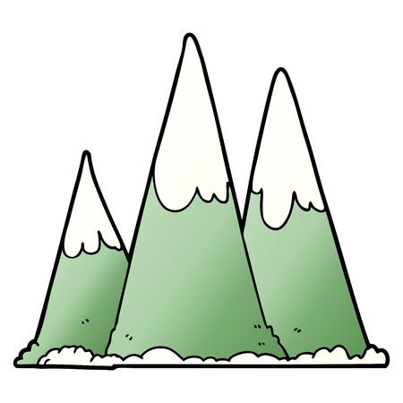 cartoon mountains illustration.