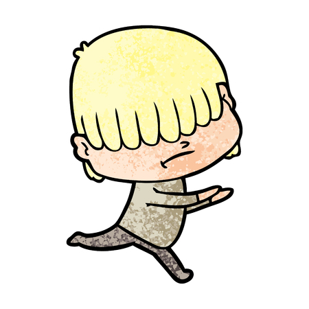 cartoon boy with untidy hair Иллюстрация