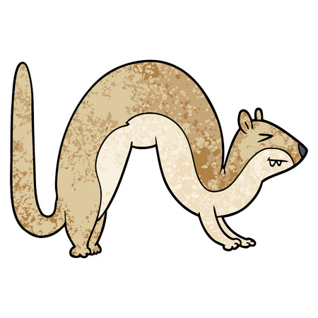 cartoon weasel illustration.