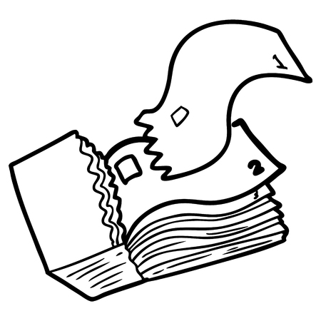 cartoon tickets illustration. Illustration