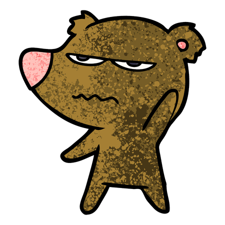 annoyed bear cartoon Ilustrace