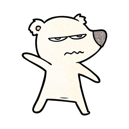 angry bear polar cartoon pointing
