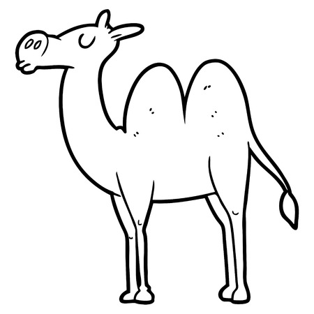 cartoon camel illustration.