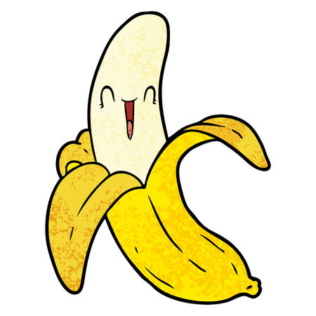 cartoon crazy happy banana Illustration