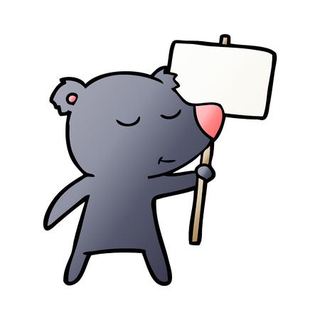 항의 표시로 만화 캐릭터를 곰