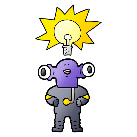 Alien amigável dos desenhos animados Foto de archivo - 94523792