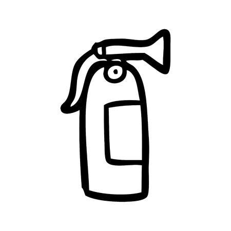 cartoon fire extinguisher