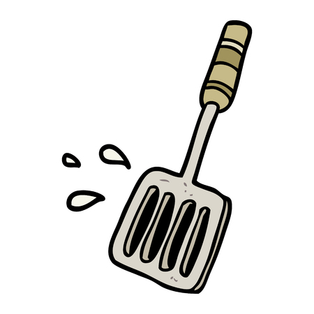 cartoon kitchen spatula tool Imagens - 94545166