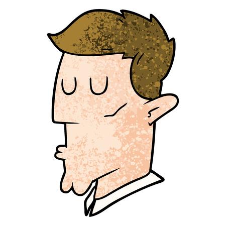 漫画深刻な男