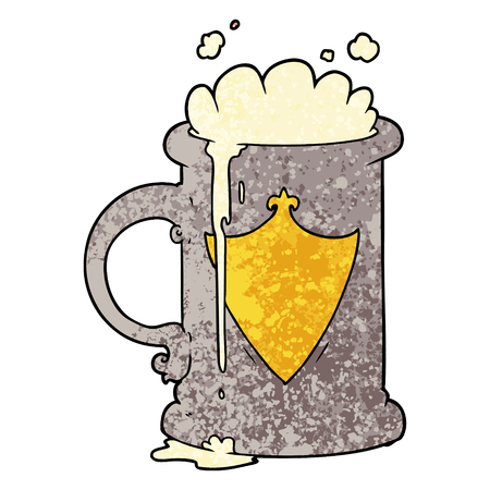 cartoon foaming beer