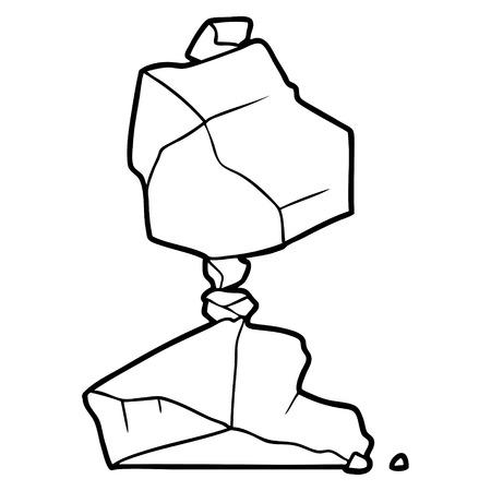 cartoon rocks illustration.