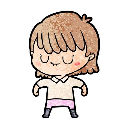cartoon vrouw illustratie