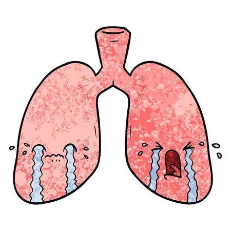 漫画の肺泣く  イラスト・ベクター素材