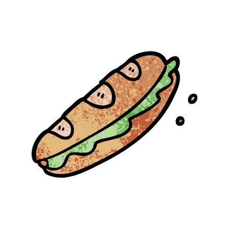 漫画のサンドイッチ  イラスト・ベクター素材