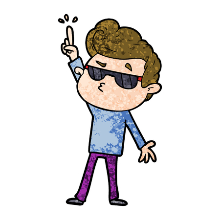 cartoon cool guy Illustration