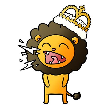 Lion rugissant de dessin animé Banque d'images - 94549106