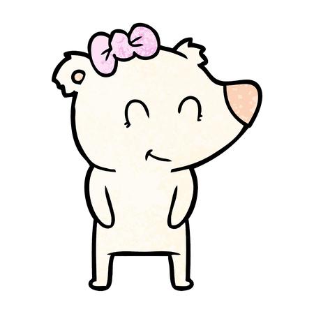 Female polar bear cartoon.