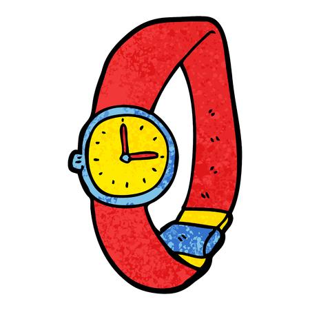만화 손목 시계. 일러스트