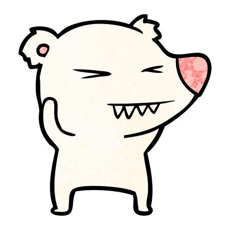 angry polar bear cartoon Stock Vector - 94588091