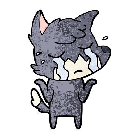 Crying fox shrugging shoulders. Ilustração