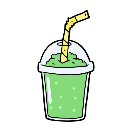 cartoon iced smoothie illustration. 向量圖像