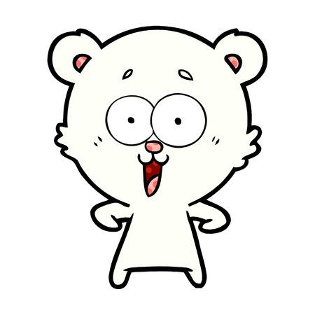 ijsbeer cartoon afbeelding.