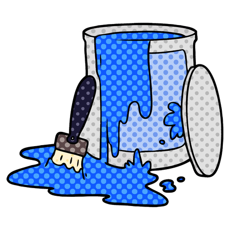 cartoon paint bucket illustration.