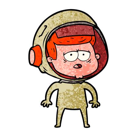 Bande dessinée fatigué astronaute Banque d'images - 94547535