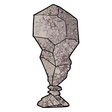 Balancing rock cartoon
