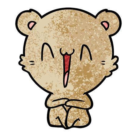 앉아 행복 곰 만화 스톡 콘텐츠 - 94548827