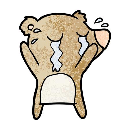 Tearful bear cartoon character
