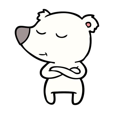 happy polar bear cartoon Illustration