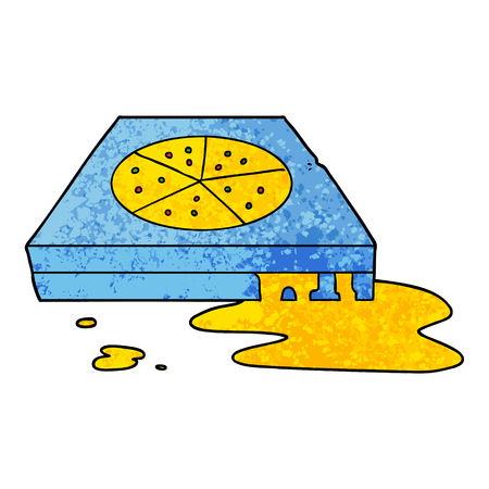 Pizza gordurosa de desenhos animados Foto de archivo - 94588442