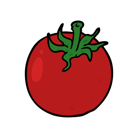 cartoon fresh tomato Stock Illustratie