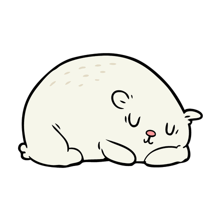 cartoon sleepy polar bear