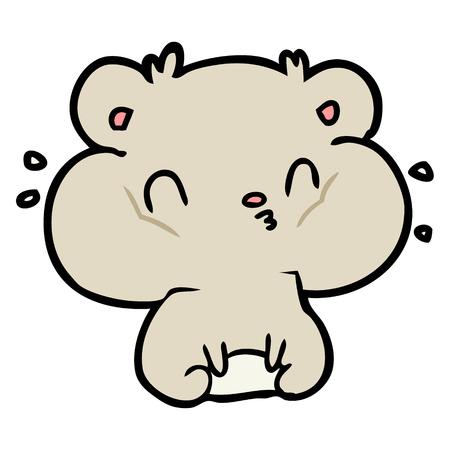 Hamster de bande dessinée avec des poches pleines de joue. Vecteurs