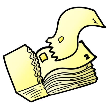 漫画のチケット。  イラスト・ベクター素材