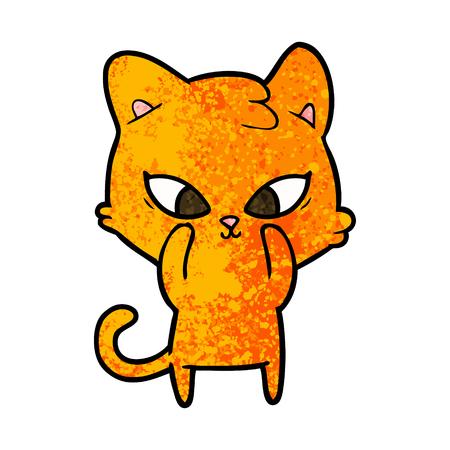 Leuke, oranje kitten cartoon